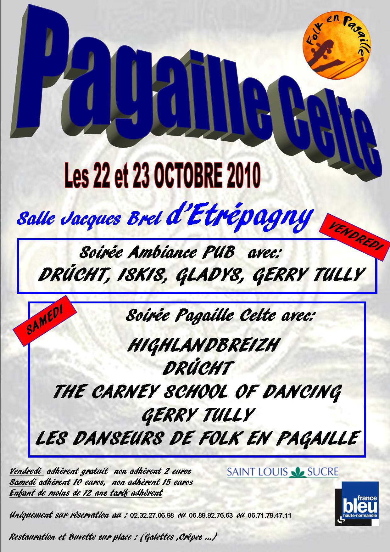 Affiche de la 5ème Pagaille celte, les 22 et 23 octobre à Etrepagny (27150)