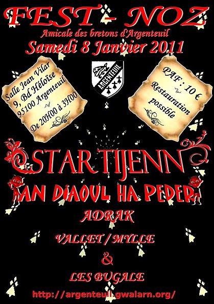 Fest-noz le 8 janvier 2011 à Argenteuil (95100)