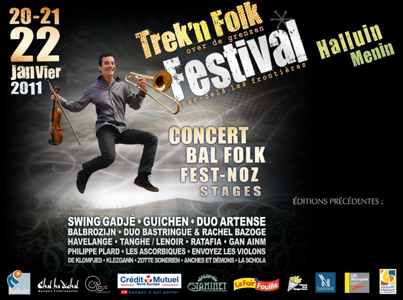 Trek'n Folk 2011 du jeudi 20 au samedi 22 janvier à Halluin (59250)