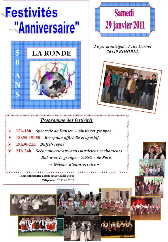 Bal folk des 50 ans de La Ronde de Rouen samedi 29 janvier 2010 à Bihorel (76420)