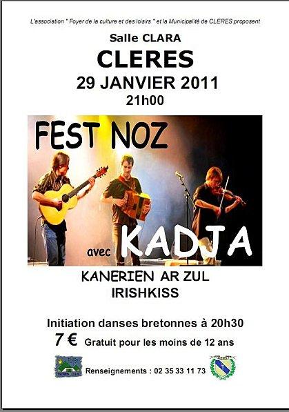 Fest-noz bal folk du 29 janvier 2011 à Clères (76690)
