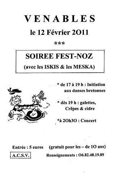 Fest-noz avec les Iskis et les Meska samedi 12 février 2011 à Venables (27940)