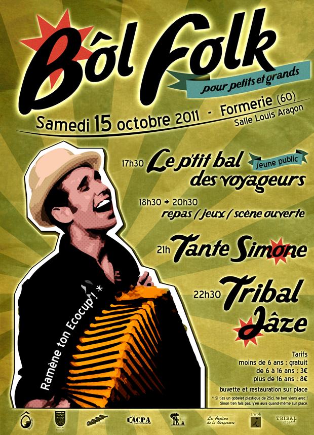 Bôl folk («bin oui, bal folk avec l'accent picard...!!!») samedi 15 octobre 2011 à Formerie (60220)