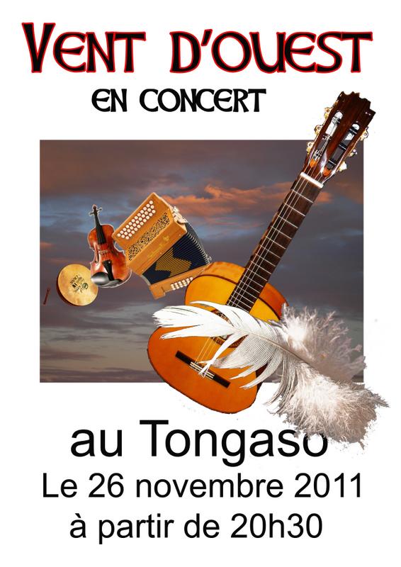 Café-concert musique celtique avec Vent d'Ouest au bar Le Tongaso à Beauvais (Oise)