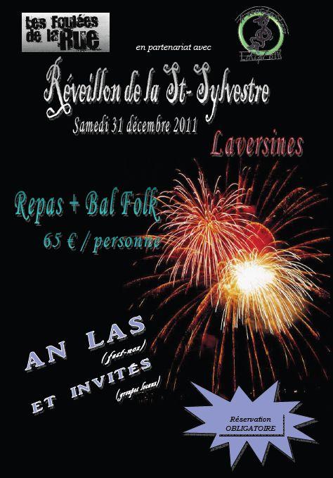 Réveillon bal folk de la Saint-Sylvestre avec An Las, Tante Simone, Palmyre, et les accordéonnistes de LoupFolk, le 31 décembre 2011 à Laversines (60510)