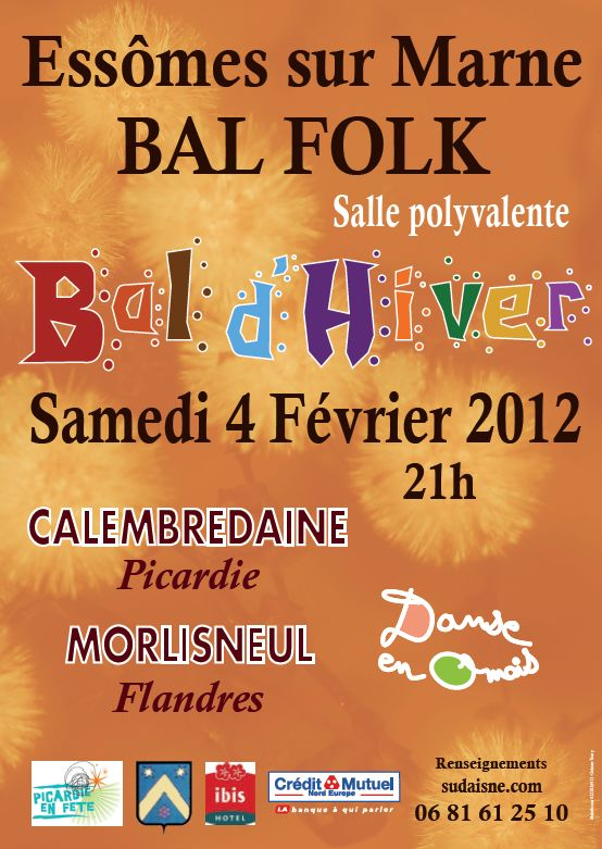 Bal folk samedi 4 février 2012 à Essômes-sur-Marne (02400).