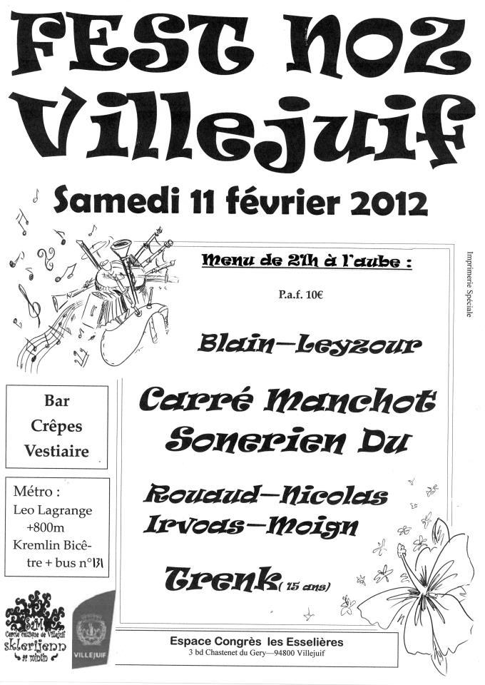 Fest-noz samedi 11 février 2012 à Villejuif (94800).