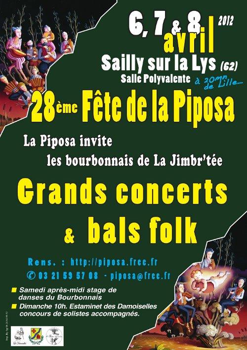 28ème fête de la piposa du 6 au 8 avril 2012 à Sailly-sur-la-Lys (62840)