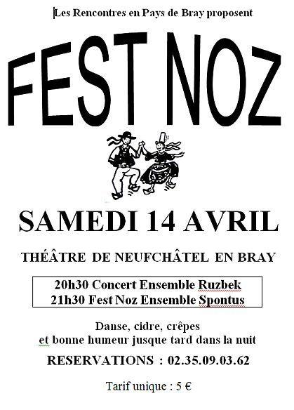 Fest-noz samedi 14 avril à Neufchâtel-en-Bray (76270)