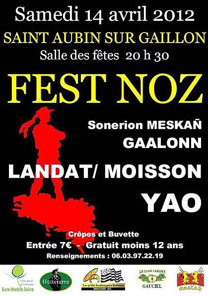 Fest-noz le 14 avril 2012 à Saint-Aubin-sur-Gaillon (27600)