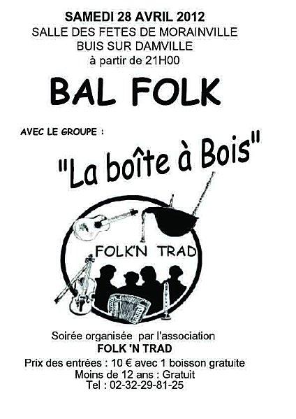 Bal folk le 28 avril salle de Morainville-sur-Damville, Buis-sur-Damville (27)