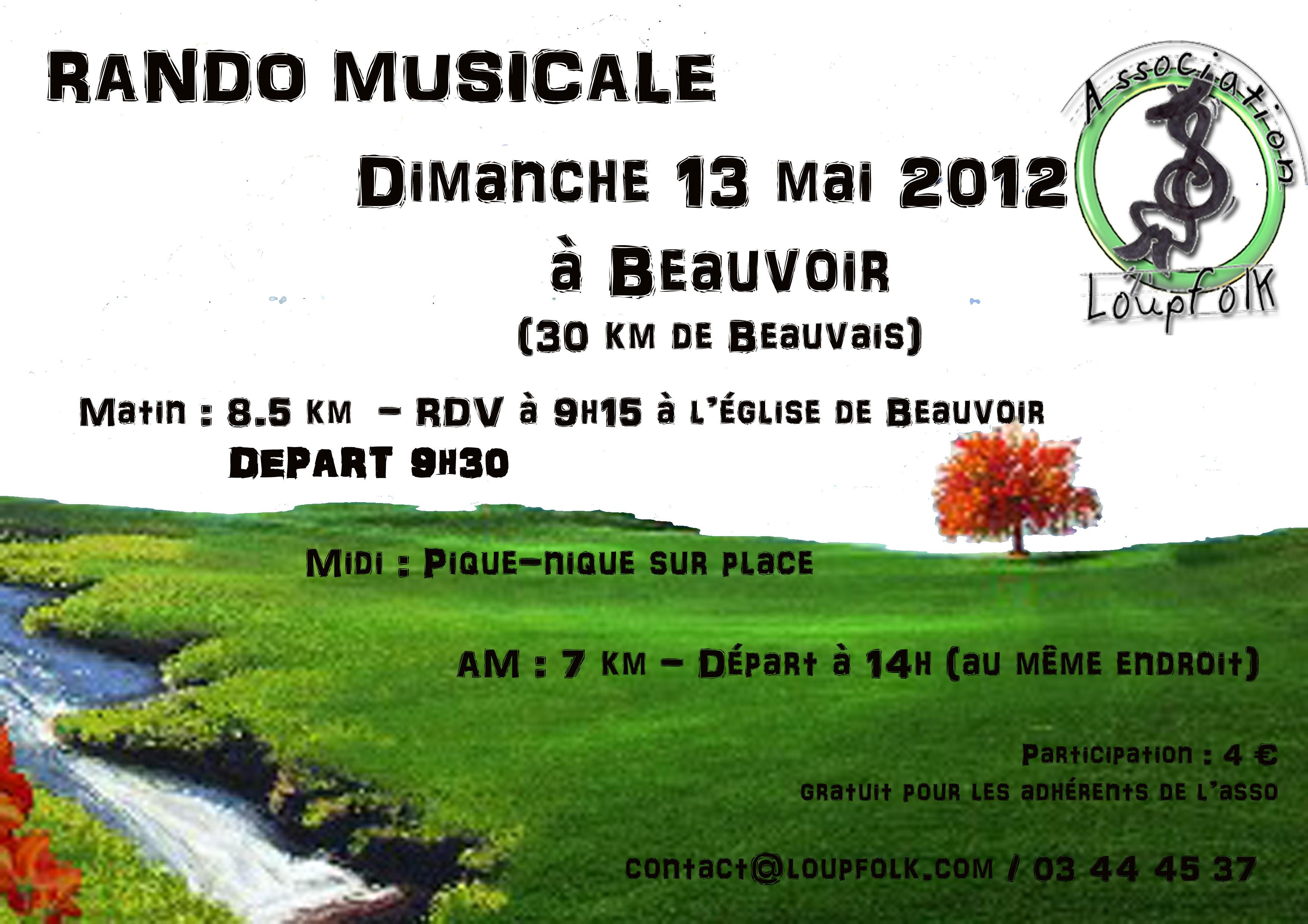 Randonnée musicale Loupfolk dimanche 13 mai à Beauvoir (60120)