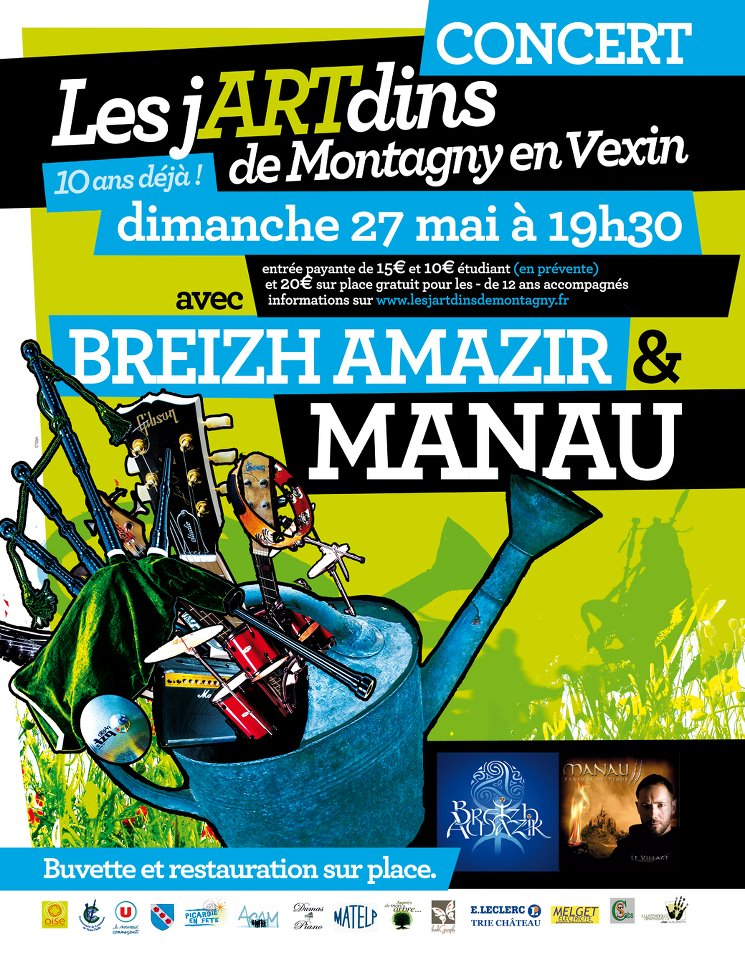 Concert avec Breizh Amazir et Manau dimanche 27 mai 2012 à Montagny-en-Vexin (60240)