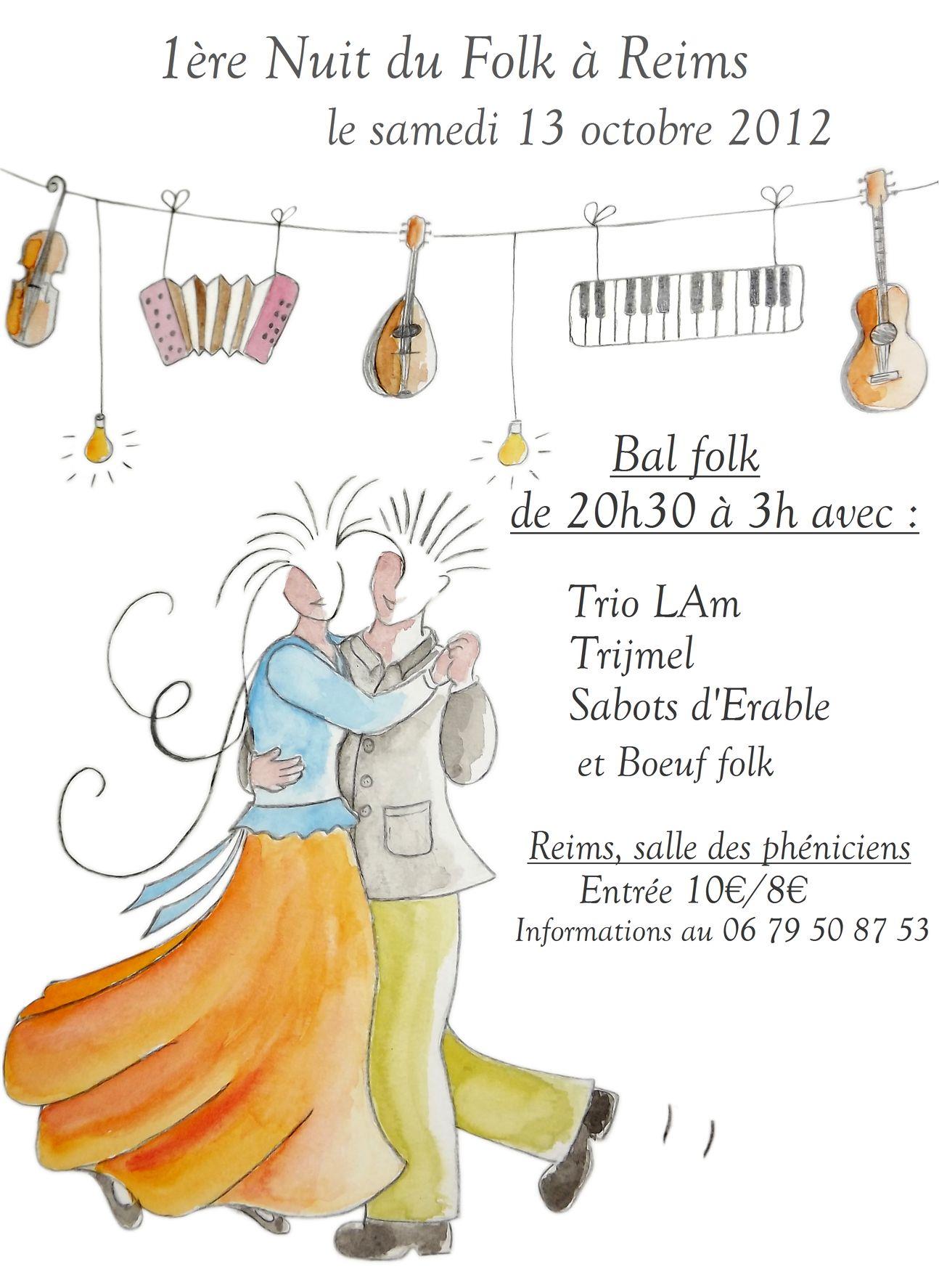 Bal folk 1ère nuit du folk le 13 octobre 2012 à Reims