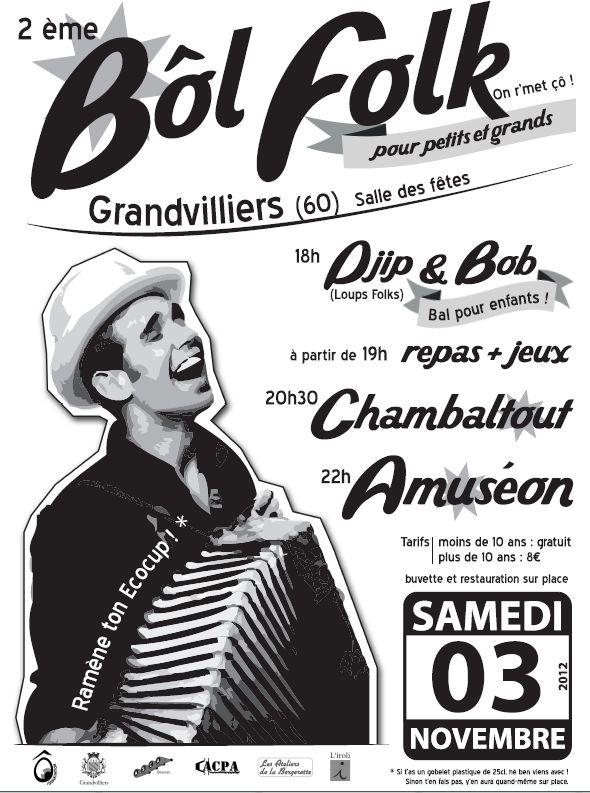 Bal folk samedi 3 novembre 2012 à Grandvilliers (60210)