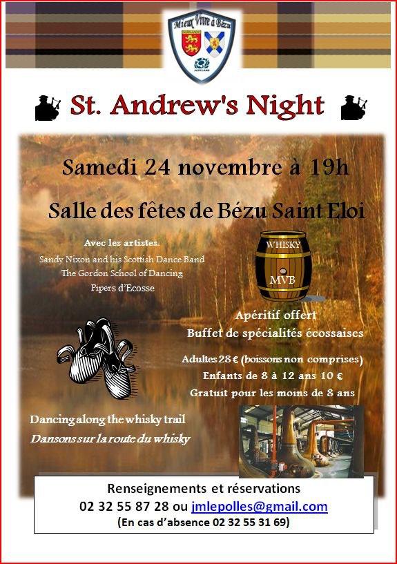 St Andrew's night samedi 24 novembre à Bézu-Saint-Éloi (27660)