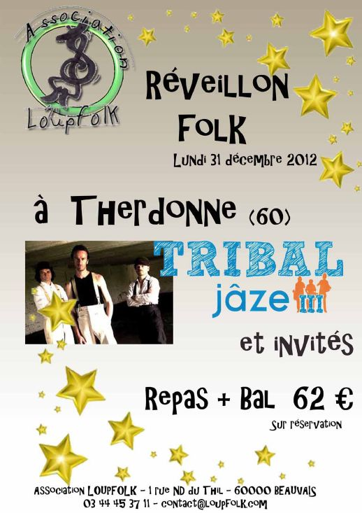 Réveillon bal folk du nouvel an le 31 décembre 2012 à Therdonne (60)